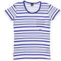DR DENIM | JOEY T-SHIRT | Mサイズ (blue stripe)の商品画像