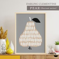 DARLING CLEMENTINE | PEAR | HARVESTポスター (50cmx70cm)【北欧 洋なし】