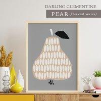 DARLING CLEMENTINE | PEAR | HARVESTポスター (50cmx70cm)【北欧 洋なし】の商品画像