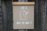 URBAN BIRD & CO. | LOVE IS WHAT YOU MAKE IT | WHITE ON KRAFT | アートプリント