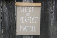 URBAN BIRD & CO. | WE'RE THE PERFECT MATCH | WHITE ON KRAFT | アートプリント