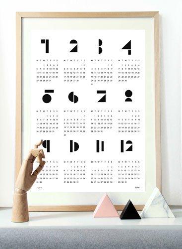 snug.studio | snug.calendar 2014 | ポスターカレンダー2014 (white)