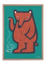 HUMAN EMPIRE | BEAR IN GREEN POSTER | ポスター (50x70cm)