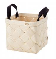 VERSO DESIGN | LASTU BIRCH BASKET S | バスケット (grey handles)