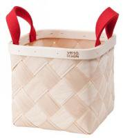 VERSO DESIGN | LASTU BIRCH BASKET S | バスケット (red handles)
