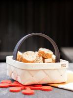 VERSO DESIGN | LASTU BREAD BASKET | ブレッドバスケット (grey handle)