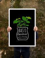 ANEK | BASIL HERB | アートプリント/ポスター (50x70cm)【北欧 カフェ レストラン インテリア おしゃれ】の商品画像