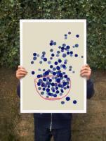 ANEK | BLUEBERRY - SUMMER FRUIT ART | アートプリント/ポスター (50x70cm)【北欧 カフェ レストラン インテリア おしゃれ】の商品画像