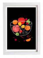 ANEK | LA FRUTTA - FRUIT ART (black) | アートプリント/ポスター (50x70cm)