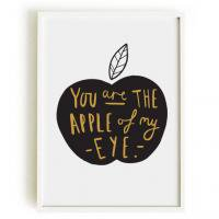 OLD ENGLISH CO. | APPLE OF MY EYE PRINT (BLACK & GOLD/WHITE BACKGROUND) | A4 アートプリント/ポスター