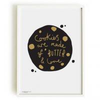 OLD ENGLISH CO. | COOKIE PRINT (BLACK AND GOLD/WHITE BACKGROUND) | A3 アートプリント/ポスター