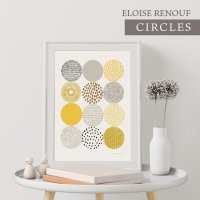 ELOISE RENOUF | CIRCLES | A3 アートプリント/ポスター 北欧 シンプル おしゃれの商品画像