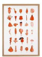 HUMAN EMPIRE   RED CHARACTERS POSTER   ポスター (50x70cm)の商品画像