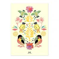 ANNY WHO | BIRDS PARTY POSTER | アートプリント/ポスター (50x70cm)