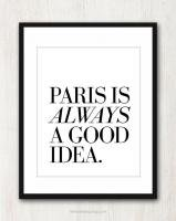 THE LOVE SHOP | PARIS IS ALWAYS A GOOD IDEA | A4 アートプリント/ポスター