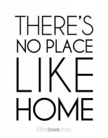 THE LOVE SHOP | THERE'S NO PLACE LIKE HOME | A3 アートプリント/ポスター