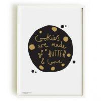OLD ENGLISH CO. | COOKIE PRINT (BLACK AND GOLD/WHITE BACKGROUND) | A4 アートプリント/ポスター