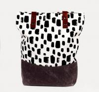 SUCH SWEET TIERNEY | DOTTED BRUSH STROKE TOTE | トートバッグ