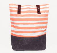 【SALE セール】SUCH SWEET TIERNEY | CORAL STRIPE TOTE | トートバッグの商品画像