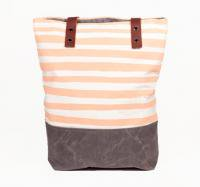 【SALE 30%オフ】SUCH SWEET TIERNEY   PEACH STRIPE TOTE   トートバッグの商品画像