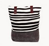 SUCH SWEET TIERNEY | BLACK STRIPE TOTE | トートバッグ
