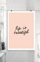 THE MOTIVATED TYPE | LIFE IS BEAUTIFUL | A3 アートプリント/ポスターの商品画像
