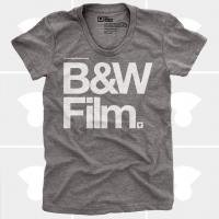 MEDIUM CONTROL | B&W FILM | Tシャツ (Heather Grey) | レディースMサイズ