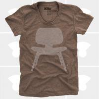 MEDIUM CONTROL | EAMES PLYWOOD CHAIR | Tシャツ (Brown Heather) | レディースMサイズ