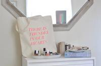 FIELDGUIDED | THUNDER IN OUR HEARTS (FLURO PINK) | トートバッグ | TOTE BAG