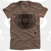 MEDIUM CONTROL | CRAZY WATSON THE CAT | Tシャツ (Brown Heather) | レディースMサイズ
