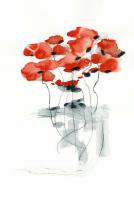 DUEALBERI | RED POPPY WATERCOLOR PRINT | A4 アートプリント/ポスターの商品画像