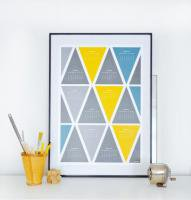 HELD & LYKKE | TRIANGLE #2 CALENDAR 2015 (yellow and gray) | A2 �ݥ�������������