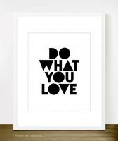 THE LOVE SHOP | DO WHAT YOU LOVE (black) | A3 アートプリント/ポスター
