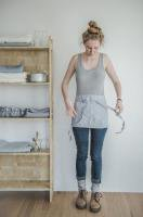 not PERFECT LINEN | LINEN CAFE APRON (washed silver) | エプロン