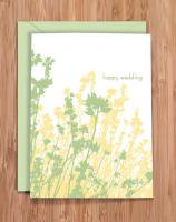 MODERN PRINTED MATTER | HAPPY WEDDING - FLORAL GREETING | グリーティングカード