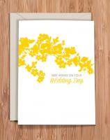 MODERN PRINTED MATTER | WEDDING DAY - YELLOW BLOSSOMS | グリーティングカード