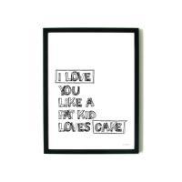 aboutgraphics   I LOVE CAKE   アートプリント/ポスター (30x40cm)の商品画像