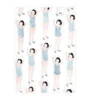 【ネコポス送料無料】CLARA SELINA BACH | WATER COLOR BATHING SUITS BLUE | A4 アートプリント/ポスターの商品画像
