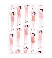 【ネコポス送料無料】CLARA SELINA BACH | WATER COLOR BATHING SUITS RED | A4 アートプリント/ポスターの商品画像