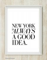 THE LOVE SHOP | NEW YORK IS ALWAYS A GOOD IDEA | A3 アートプリント/ポスター