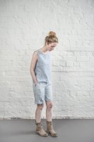 not PERFECT LINEN | LINEN SHORTS (ice blue/silver grey)  | ショートパンツ | レディース UK8/S