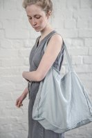 not PERFECT LINEN   LARGE LINEN TOTE BAG (ice blue/silver grey)   トートバッグの商品画像