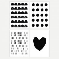 SEVENTY TREE | BLACK AND WHITE POSTCARD SET | ポストカードセット