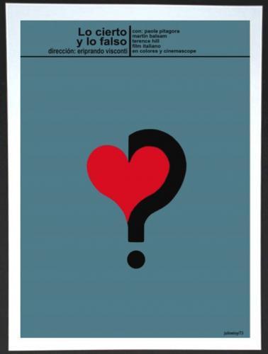 CUBAN MOVIE POSTER | LO CIERTO Y LO FALSO - ITALIAN FILM | キューバン・ムービー・ポスター