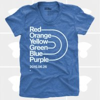 MEDIUM CONTROL | RAINBOW PRIDE | Tシャツ (Blue Heather) | レディースMサイズ