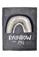 retrowhale | RAINBOW FROM 1952 (black and white) | A3 アートプリント/ポスター