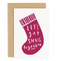 OLD ENGLISH CO.   LET'S GET SNUG CHRISTMAS CARD   クリスマス   グリーティングカードの商品画像