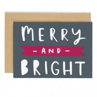 OLD ENGLISH CO. | MERRY AND BRIGHT CHRISTMAS CARD | クリスマス | グリーティングカードの商品画像