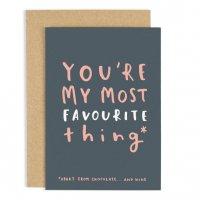 OLD ENGLISH CO.   FAVOURITE THING VALENTINE'S DAY CARD   バレンタイン   グリーティングカードの商品画像