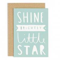 OLD ENGLISH CO.   SHINE BRIGHTLY LITTLE STAR CARD   グリーティングカードの商品画像